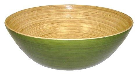 (Simply Bamboo BBC14 Glossy Celadon Bamboo Bowl, 14
