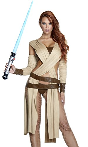 Forplay Women's Ray of Light Sexy Movie Character Costume, tan, S/M ()