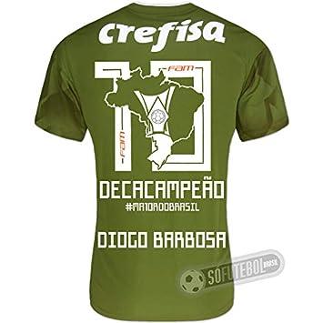 Camisa Palmeiras Edição Limitada (DIOGO BARBOSA) - Decacampeão Brasileiro 0dcb05ecbe825