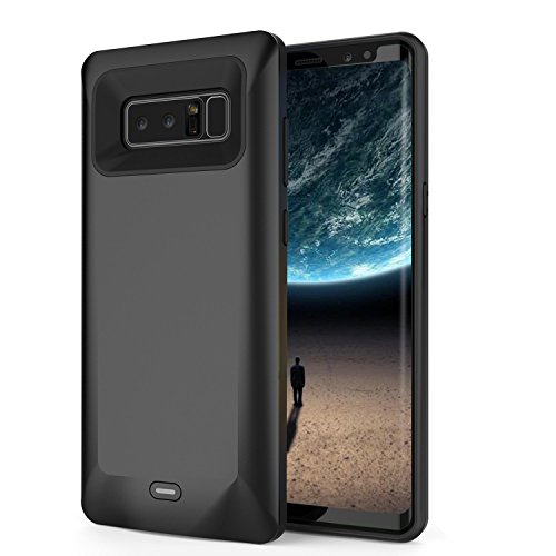 Galaxy Note 8 Battery Case, 5500mAh Rechargeable Extended Battery Pack Charger Case External Portable Power Bank Charging Case for Samsung Galaxy Note 8-Black