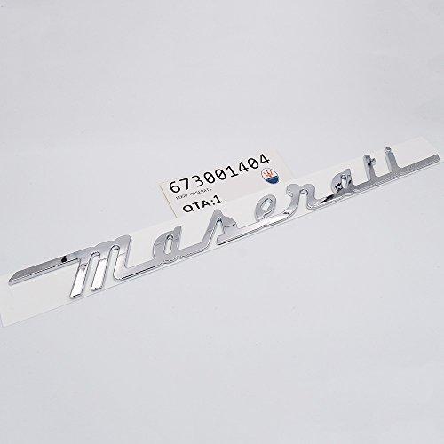 (US85 Maserati Trunk Nameplate Logo Emblem Badges Ghibli Coupe GranSport GranTurismo Quattroporte OEM (OEM Chrome))
