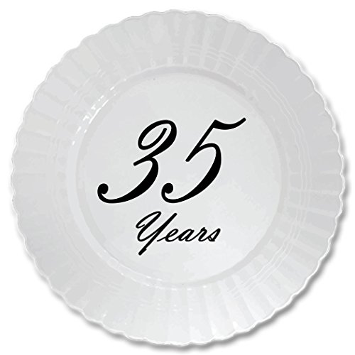 35-YEARS-CLASSY-BLACK-PLASTIC-DESSERT-PLATE-8-CT-by-Partypro
