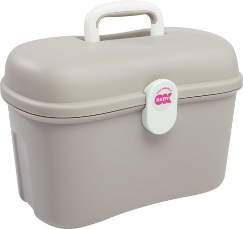 OKBaby Beauty Care Carrying Case Baby Changing and Bath Box, Ivory OK Baby 16-49-035