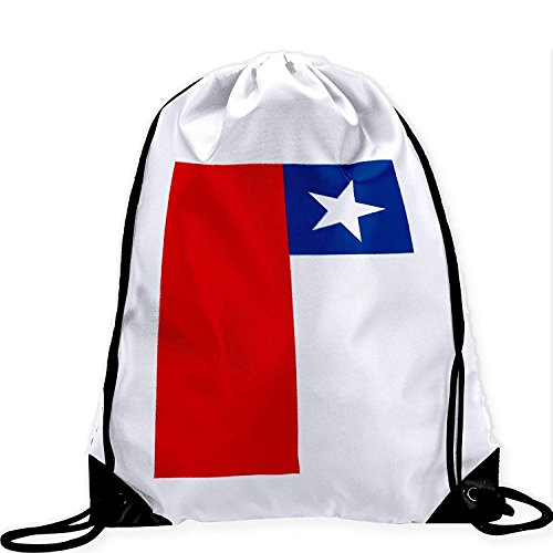 Large Drawstring Bag with Flag of Chile - Many Designs - Long lasting vibrant image by crystars