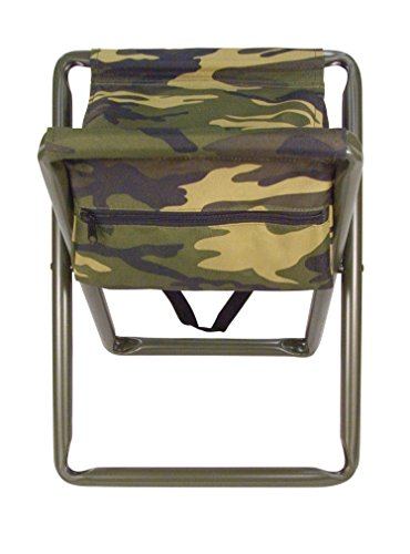 Rothco Deluxe Stool with Pouch, Woodland Camo