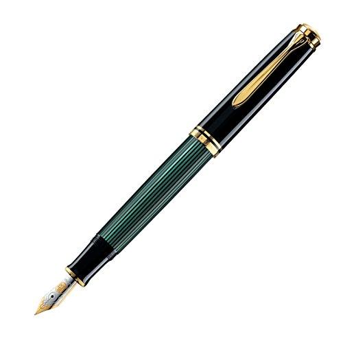 Pelikan Souveran 1000 Fountain Pen - Green/Black, Extra-Fine Nib 987578 by Pelikan