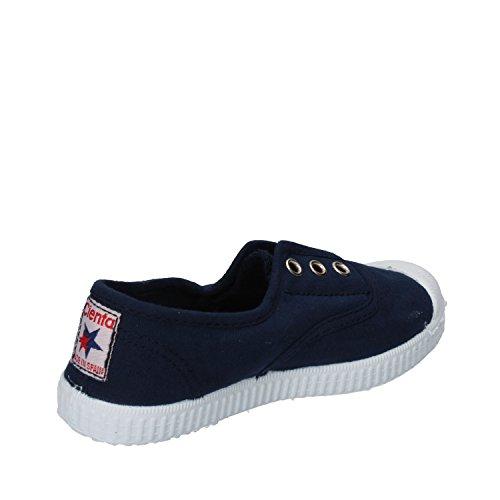 Cienta 70777 21/27 color beige unisex zapatos de la tela elástica azul oscuro