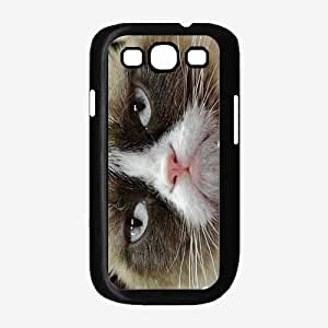 Cranky Cat Plastic Phone Case Back Cover Samsung Galaxy S3 I9300 by lolosakes