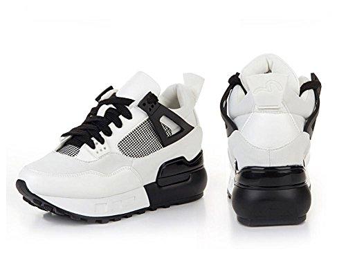 Mouvement De Taille Croissante Noir Version Coréenne Dentelle D'Automne Avec L'Aide Haute Base Sauvage Tendance De Loisirs Chaussures Pour Femmes ,white,36