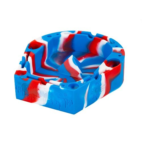 Ooze Red/White/Blue Silicone AshTray