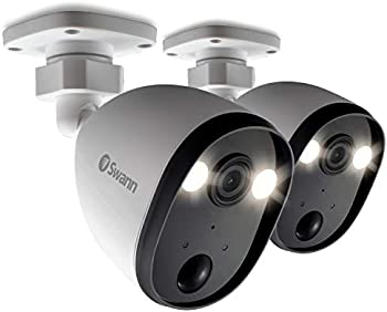 2-Pack Swann Spotlight Outdoor Home Security Cameras With Siren