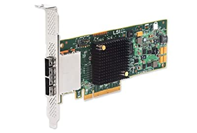 Lsi Logic LSI00300 9207-8e Sgl Sas Pcie 12/3.3v Ctlr 8port Ext 6gb/s Sata+sas by LSI LOGIC