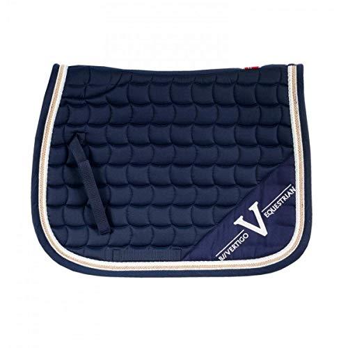 B Vertigo, Montana Coolmax Quick Dry Lining All Purpose Saddle Pad, Navy Blazer, Full ()