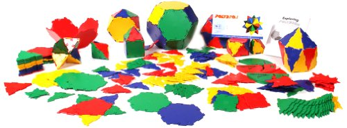 Polydron Geometry Shapes with Triangles, Squares, Hexagons, Pentagons and Activity Book (Set of 266 ()