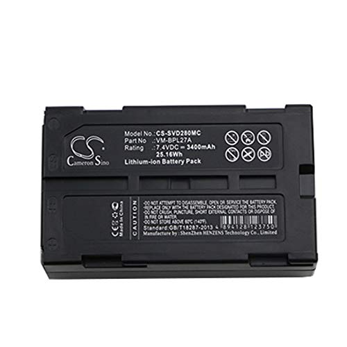 VM-BPL13A VM-BPL13 Battery 3400mAh for HITACHI M-BPL30