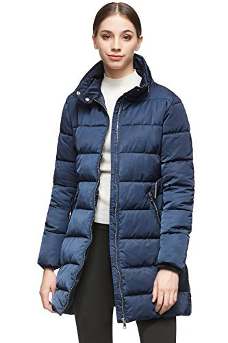 Orolay Women Warm Jacket with Waist Belt Coat Black 2XL