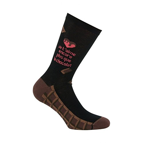 Noir En Achile Chocolat Mi Coton chaussettes qwaXUF76x