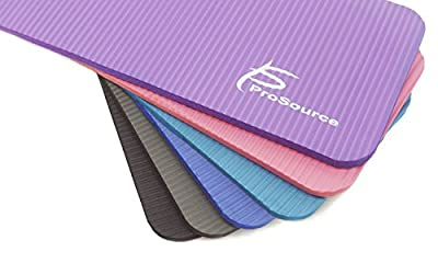 """ProSource Extra Thick Yoga Knee Pad and Elbow Cushion 15mm (5/8"""") Fits Standard Mats for Pain Free Joints in Yoga, Pilates, Floor Workouts"""