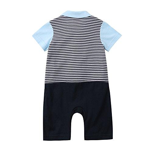 Zhengpin 2PCS Baby Boy Summer Set T-Shirts Tops+Bib Pant Overalls Outfits Clothes