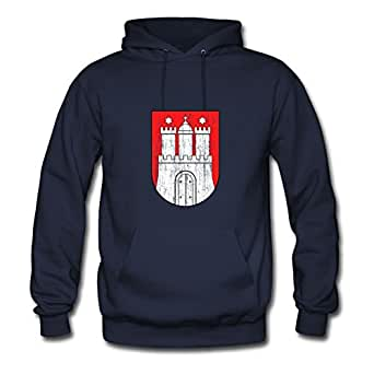 Navy Off-the-record Vogue Coat Of Arms Of Hamburg Hoodies X-large Women Custom-made