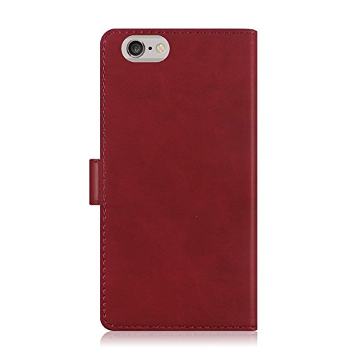 IPHONE 4S Hülle - [MANSOOR DIARY]VENTER®Stand Hülle Etui with Karte Halterung Leder Wallet Klapphülle Flip Book Case TPU Cover Bumper Tasche Ultra Slim für Apple IPHONE 4S