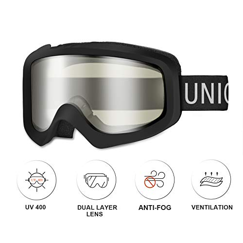 Unigear Skido X1 Ski Goggles, Snowboard Snow Goggles for Men, Women & Youth – Anti-Fog & 100% UV Protection