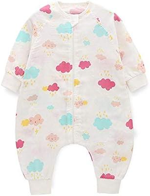 North King Saco de Dormir para bebé,Gasas de bebé Fractura Pierna Fina algodón Bolsa de Dormir cómoda Transpirable Escalada Traje Mangas Desmontables