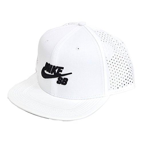 Nike Mens SB Performance Trucker Snapback Hat White/Black