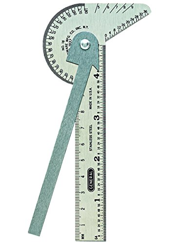 General Tools 16ME Pocket-Sized 6-In-1 Multi Use Rule and Gage with 4-Inch Ruler and Etched Graduations in 64ths of an Inch and Millimeters