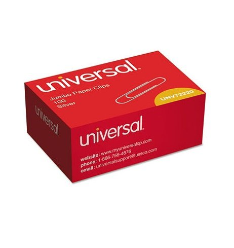 Universal Smooth Paper Clips Silver product image