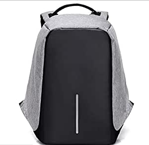 ANTI THEFT DESIGN LAPTOP BACKPACK - GRAY