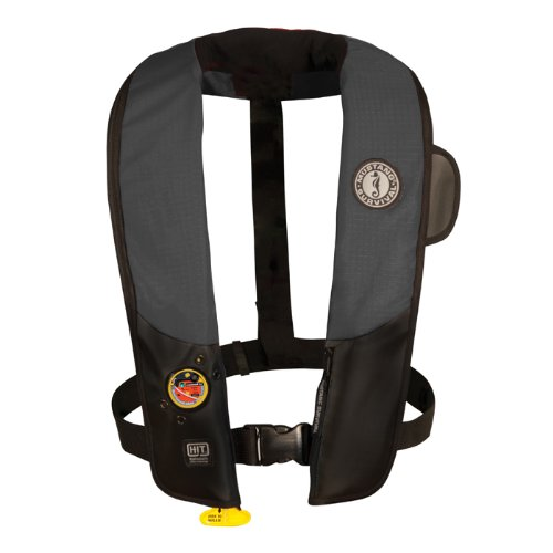 (Mustang Survival Corp Inflatable PFD with HIT (Auto Hydrostatic), Black/Carbon)