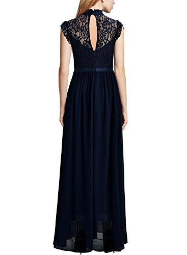 Miusol Womens Formal Floral Lace Sleeveless Evening Party Maxi Dress
