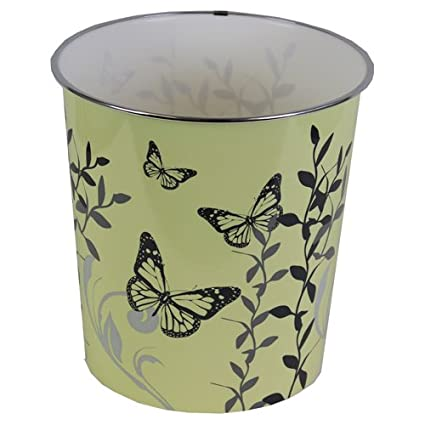 Crema JVL 25 x 26,5 cm de pl/ástico Butterfly Home Novedad Desperdicio de Papel papeleras