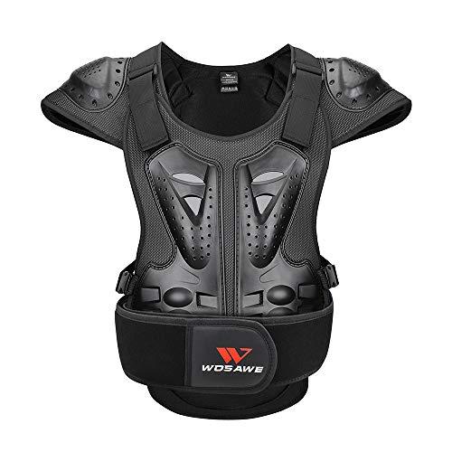 WOSAWE Motorrad Schutz Jacke für Erwachsene, Brustpanzer Racing Guard Rückenprotektoren Schutzausrüstung für Riding…