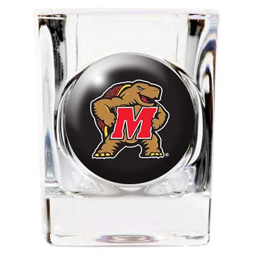 Maryland Terrapins Shot Glass - Square 2oz -