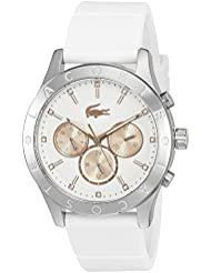 Lacoste Womens Charlotte Quartz Stainless Steel and Silicone Casual Watch, Color:White (Model: 2000940)