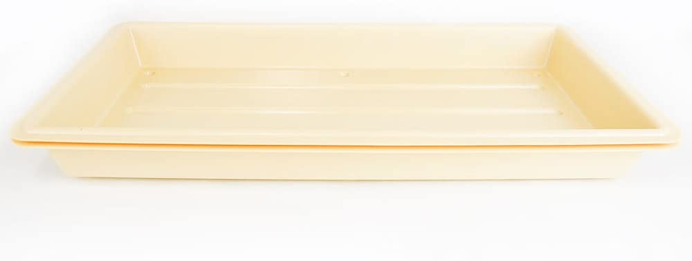 Quantity 1 - Perma-Nest Heavy Duty Plant Greenhouse Growing Tray - (Tan) No Drain Holes - Makes a Great Drip Tray - Perfect for Seed Starts, Microgreens, Wheatgrass, More