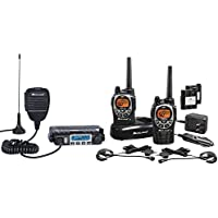Midland Consumer Radio ORMXT115VP Micro Mobile 15W GMRS with 8 Repeater Channels & Portable 36-Mile 50-Channel 2-Way Radios Bundle