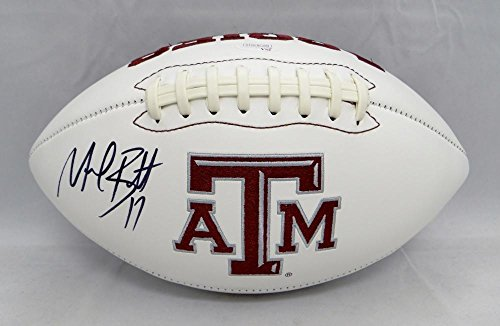 Michael Bennett Signed Ball - Texas AM Aggies Logo Witnessed Au - JSA Certified - Autographed College Footballs (Bennett Autographed Football)