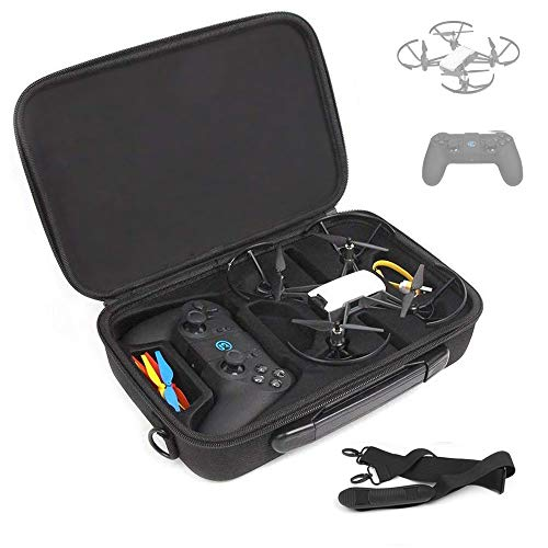(BonFook Tello Carrying Case, Shockproof Waterproof Portable Shoulder Bag Compatable with DJI Tello Drone with Gamesir T1D Gamepad Remote Controller)
