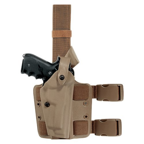 Safariland 6004 SLS Tactical Holster w/Dbl Leg Straps, Beretta 92, STX Flat Dark Earth, Right (6004 Tactical Leg Holster)