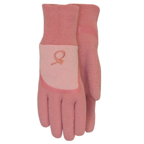 Hope For A Cure Latex Coated Garden Gripper Glove with Knit Liner, (Latex Gripper Gloves)