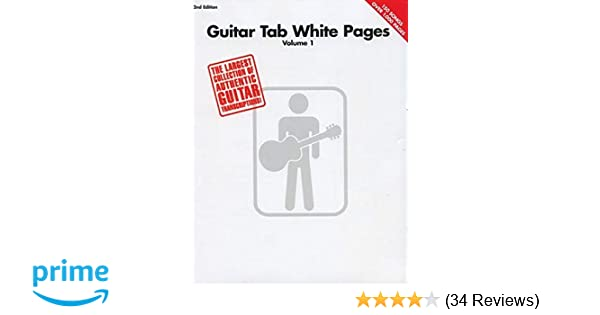 Amazon Guitar Tab White Pages Vol 1 9780634026119 Hal