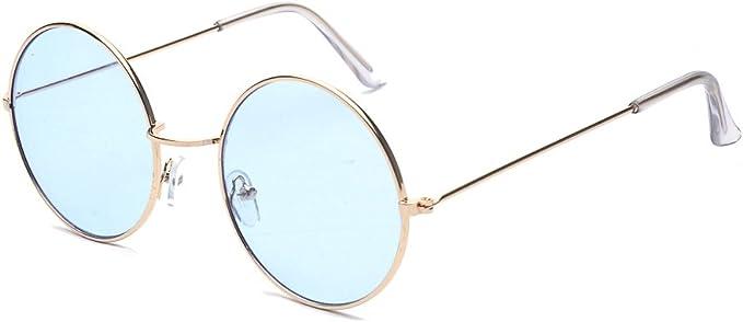 Alwaysuv Runde Rahmen Vintage John Lennon Sonnenbrille Brillenfassung Hippe Brille Blau Amazon De Bekleidung