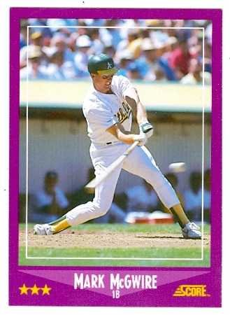 Mark Mcgwire Baseball Card Oakland Athletics 1988 Score 5 Rookie