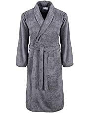 Thistle Dressing Gown for Men and Women, Cotton, High Absorbency