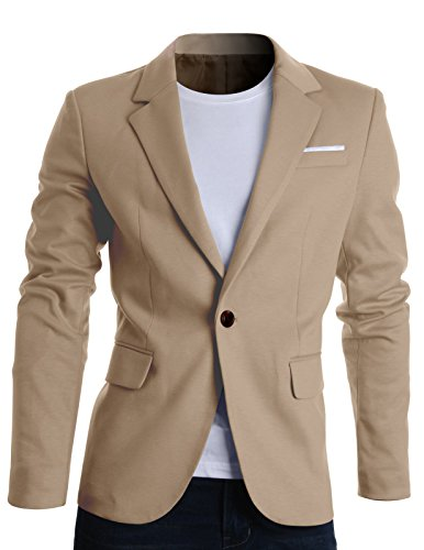 FLATSEVEN Mens Fit Casual Premium Blazer Jacket