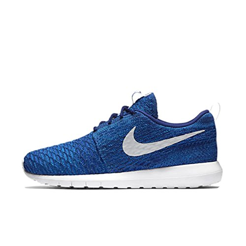 Nike Womens Roshe Nm Flyknit Qs Scarpe Da Corsa Blu / Argento Metallizzato