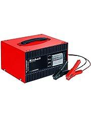 Einhell 1050821 ładowarka do akumulatorów CC-BC 10 E (12 V, do akumulatorów 5-200 Ah, elektronika ładowania, obudowa z blachy stalowej, w zestawie przewód ładowania z zaciskami biegunowymi)